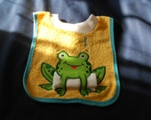 Frog with Washcloth, over the head bib