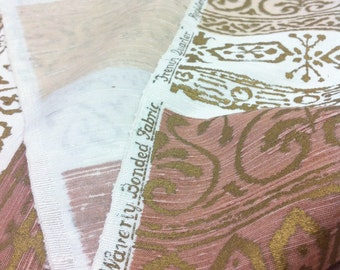 Vintage Waverly French Quarter Antiqued Silk Fabric