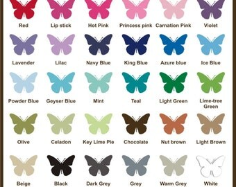 Vinyl Color Guide  & Decal sample - Color Chart Swatches and Test decal - Free Shipping