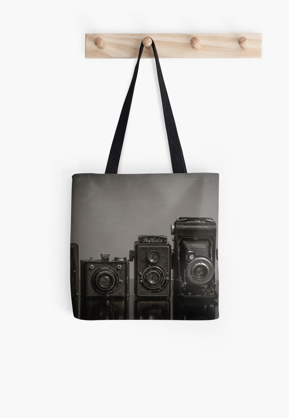 vintage camera tote camera lovers bag photographer gift