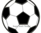 Soccer Ball - Applique - Digital Embroidery Design (100)