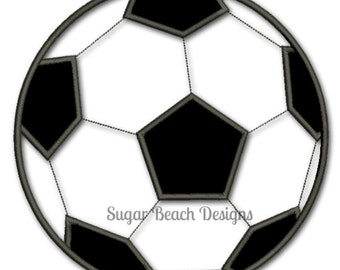 Soccer Ball - Applique - Digital Embroidery Design (100)