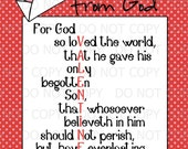 """Printable Valentine's Day Party God is Love Religious Christian 11""""x14"""" Print - INSTANT DOWNLOAD"""