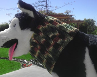 Dog collar/ neck Warmer/ Dog Sweater for large dog/pet clothing