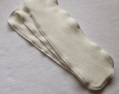 Set of 3 Organic Cotton Velour Booster Inserts for Cloth Diapers