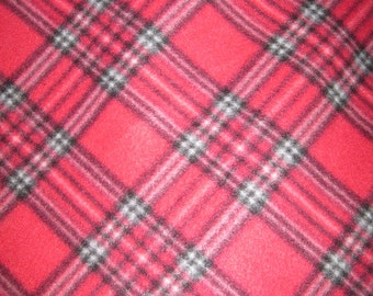 Plaid with Black and Red Double Layer Handmade Blanket - Ready to Ship Now