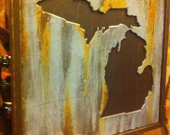 Michigan Carved Wall Art