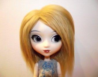 Medium blonde faux fur wig hair for Pullip/Taeyang