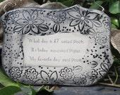 Handmade Ceramic Plaque, Winnie the Pooh and Piglet Quote