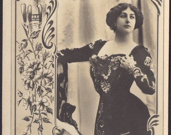 Miss Olive Haygate, Witness in Sensational Adelphi Theater Murder Trial, Image circa 1900