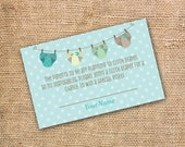 Cloth Diaper Baby Boy Gender Neutral Diaper Raffle Tickets - Cloth Diaper Baby Shower Twin Boys Twins Aqua Diaper Shower- INSTANT DOWNLOAD