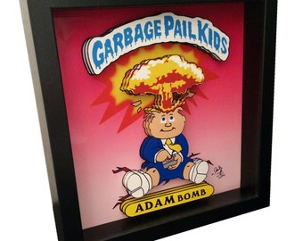 Garbage Pail Kids Trading Cards Adam Bomb 3D Pop Art 1980s Artwork Print