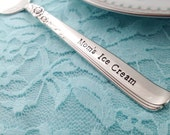 Your personalized ice cream spoon, hand stamped silverware