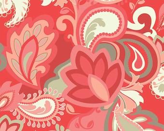 Vintage Verona Main Coral by Emily Taylor Designs for Riley Blake, 1/2 yard