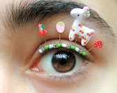 Cherry Llama Eyelash Jewelry - false eyelashes with strawberries and cherries