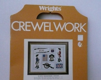 CLEARANCE - Wm. E. Wright Co. Crewelwork Bicentennial Sampler No. 321733