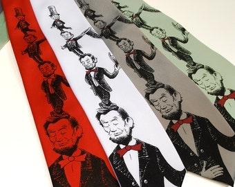 Abe in the Hat - Lincoln Dr. Seuss Parody Necktie - Librarian Gift - Teacher Gift