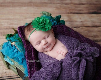 Emerald green headband, emerald headband, baby headband, green baby headband,  infant headband, Christmas headband, green headband, green