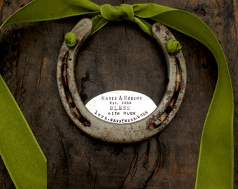 The Marriage Love & Health Horseshoe™ CUSTOM, Personalized Equestrian Welcome. Southern Charm. Housewarming Gift for the Newlyweds. Original