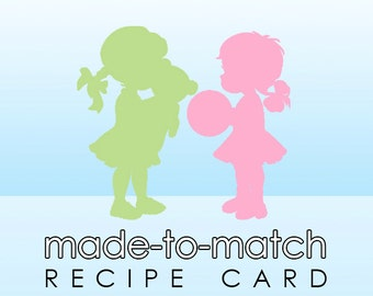 Made-to-Match Recipe Card . Digital File - to coordinate with SSC Card Design