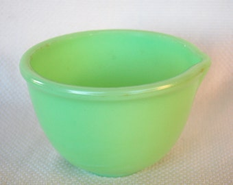 Vintage Jadeite Mixing Bowl Small Jadeite Mixing Bowl with Pour Spout  It's a little Chippy but great vintage prop