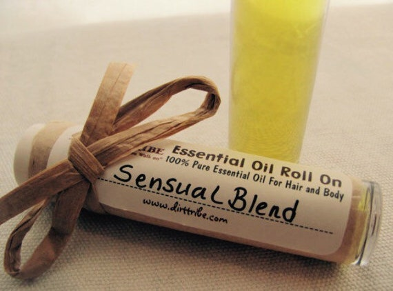 SENSUAL BLEND - Silky Smooth Roll On-- Essential Oil Aromatherapy
