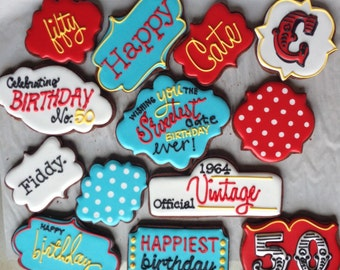50th Birthday Celebration Cookie Collection