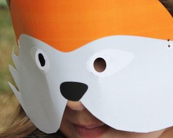 Fox Mask   Fox Mask Printable   Mask Printable INSTANT DOWNLOAD   Face Masks