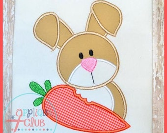 SAMPLE SALE- Cute Easter Bunny with Carrot Applique Shirt Tshirt