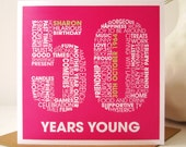 Personalised 50th Birthday Card - Personalized 50th Birthday Card - Birthday Card for Him - Birthday Card for Her