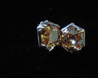 Art deco antique citron earrings