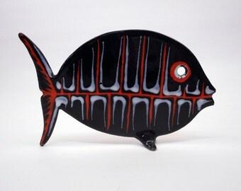 Midcentury Enamel Fish Sculpture