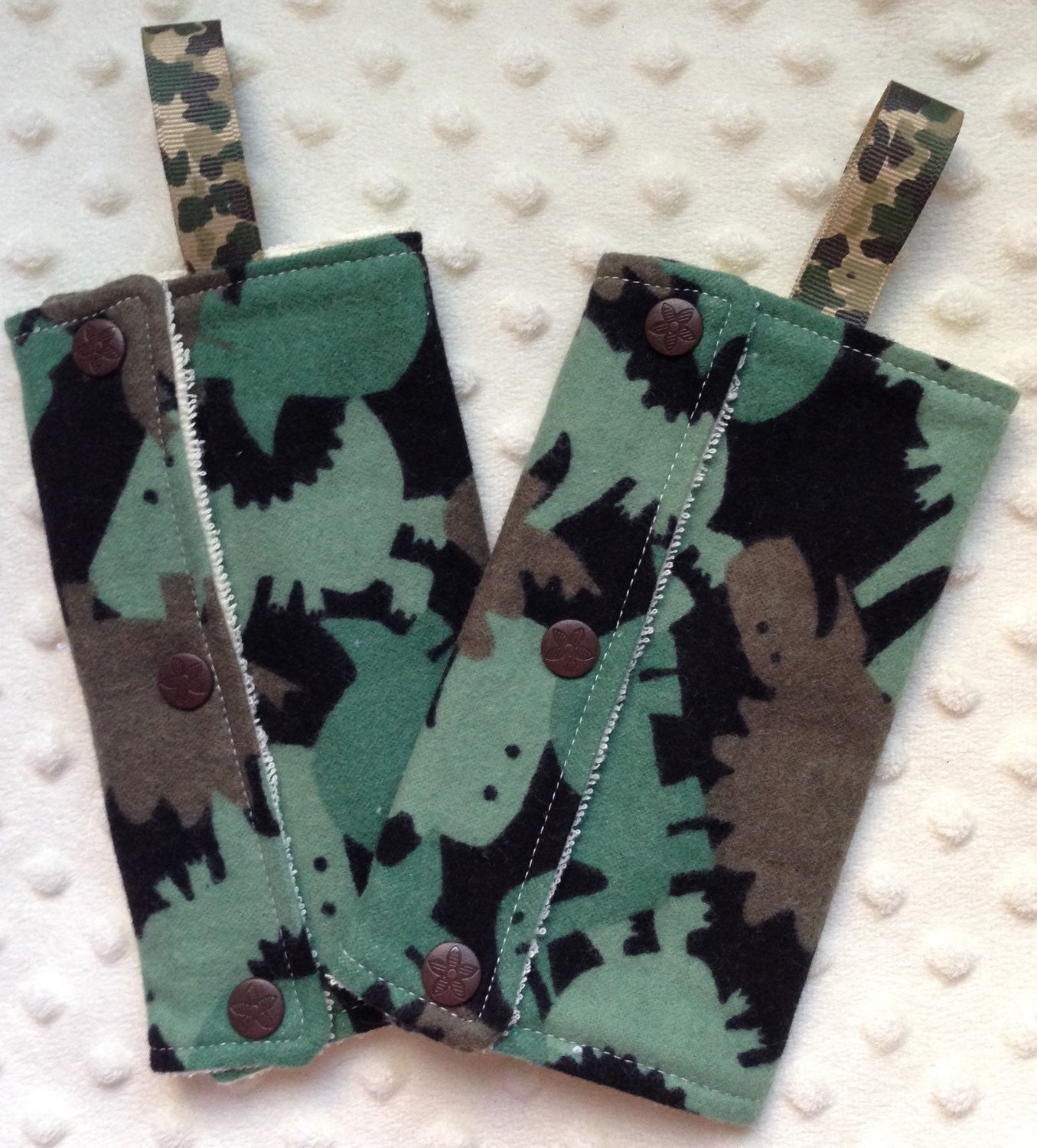 Dino Camo Teething Pads For Baby Carriers And Stroller Straps