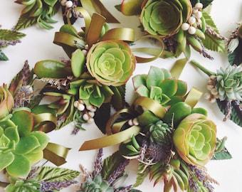 Succulent Corsage // Organic