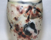 One of a kind ceramic urn for ashes, #2583