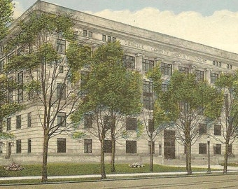 Genessee County Court House FLINT Michigan Vintage Postcard 1927 ~ Collectible Paper Ephemera