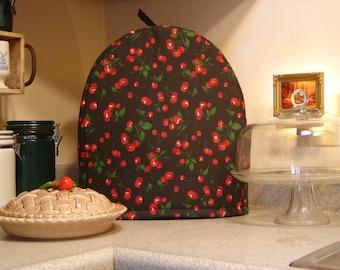 ARTI KitchenAid mixer COVER red CHERRIES on black, fits 4.5 -  5 qt. stand mixer, tilt head