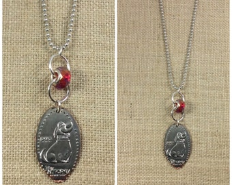 NEW Disney's DUG the Dog from UP.  Long 30 Inch Necklace - Pressed Quarter - Limited Edition