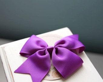 Purple Bow Clips