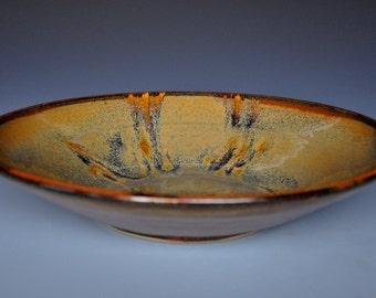 Dark Russet Platter Brown Shallow Bowl D