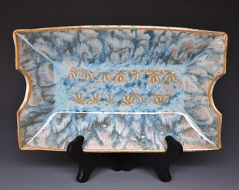 Pottery Serving Platter Ceramic Stoneware A