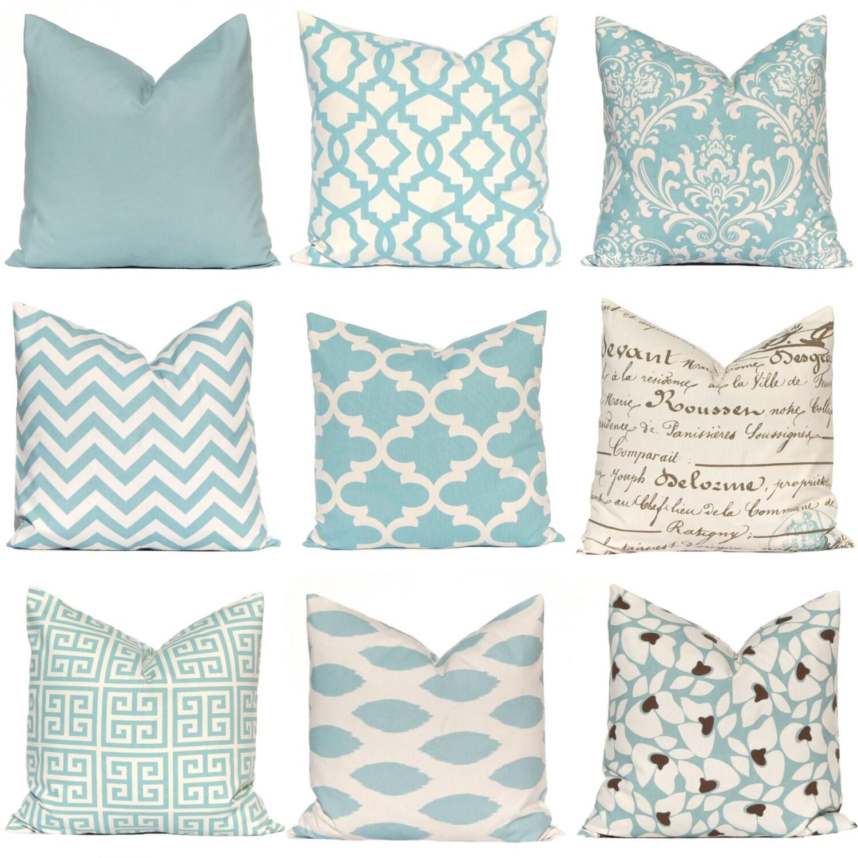 Decorative Pillow Cover Village Blue Pillow by FestiveHomeDecor