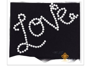 NEW PRODUCT Black canvas and pearl home decor