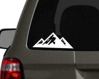 Mountains Vinyl Car Decal BAS-0209