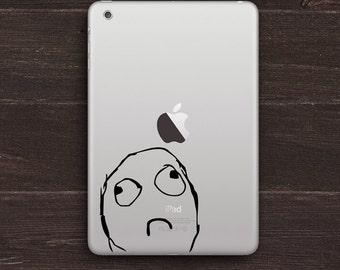 Sad Meme Vinyl iPad Decal BAS-0257