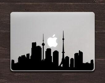 Tokyo Skyline Silhouette Vinyl MacBook Decal BAS-0317