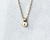 Reserved for Kristine - Gold Initial Charm - No Chain