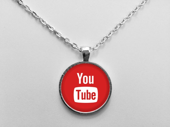 YouTube Logo Necklace or Keychain