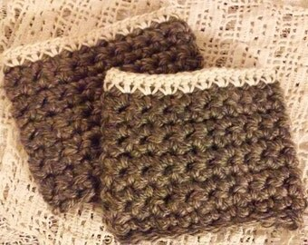Granite and Cream Boot Cuffs