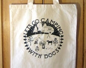 Dogs Camping Tote